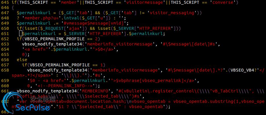 vBSEO曝出远程代码执行漏洞