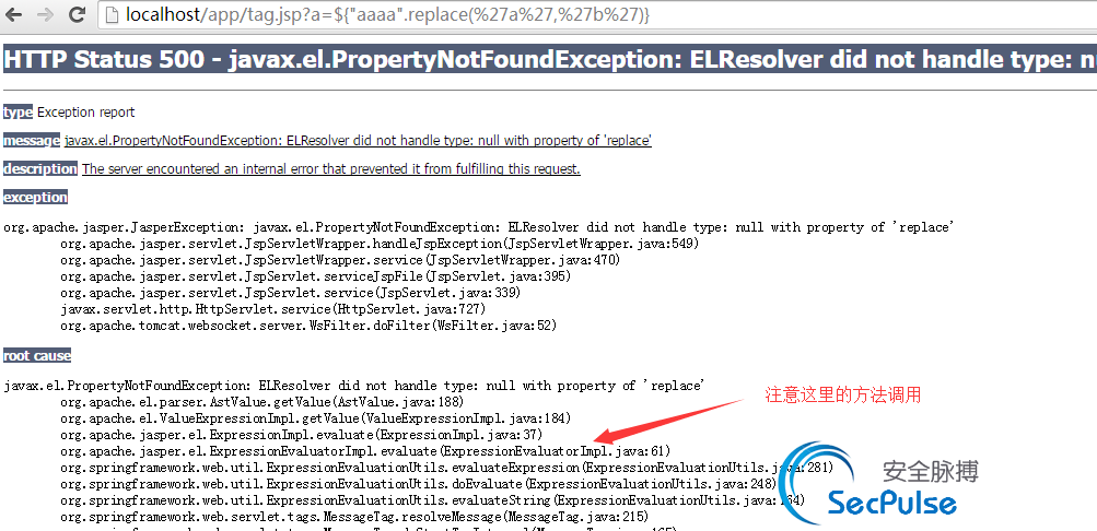 Spring框架标签EL表达式执行漏洞分析(CVE-2011-2730)
