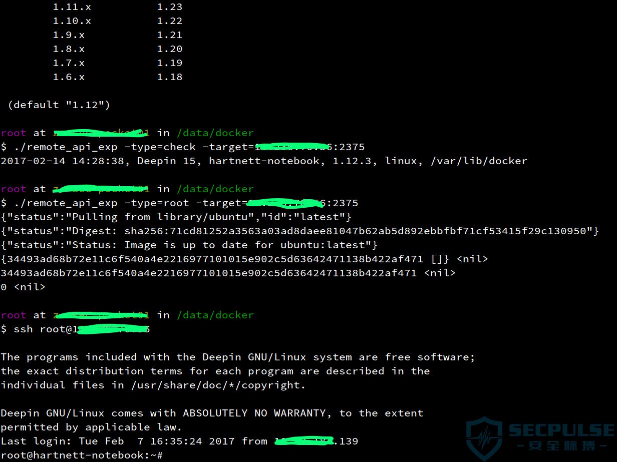 Docker Remote api在安全中的应用杂谈
