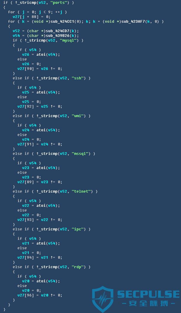 16处理不同攻击所使用端口