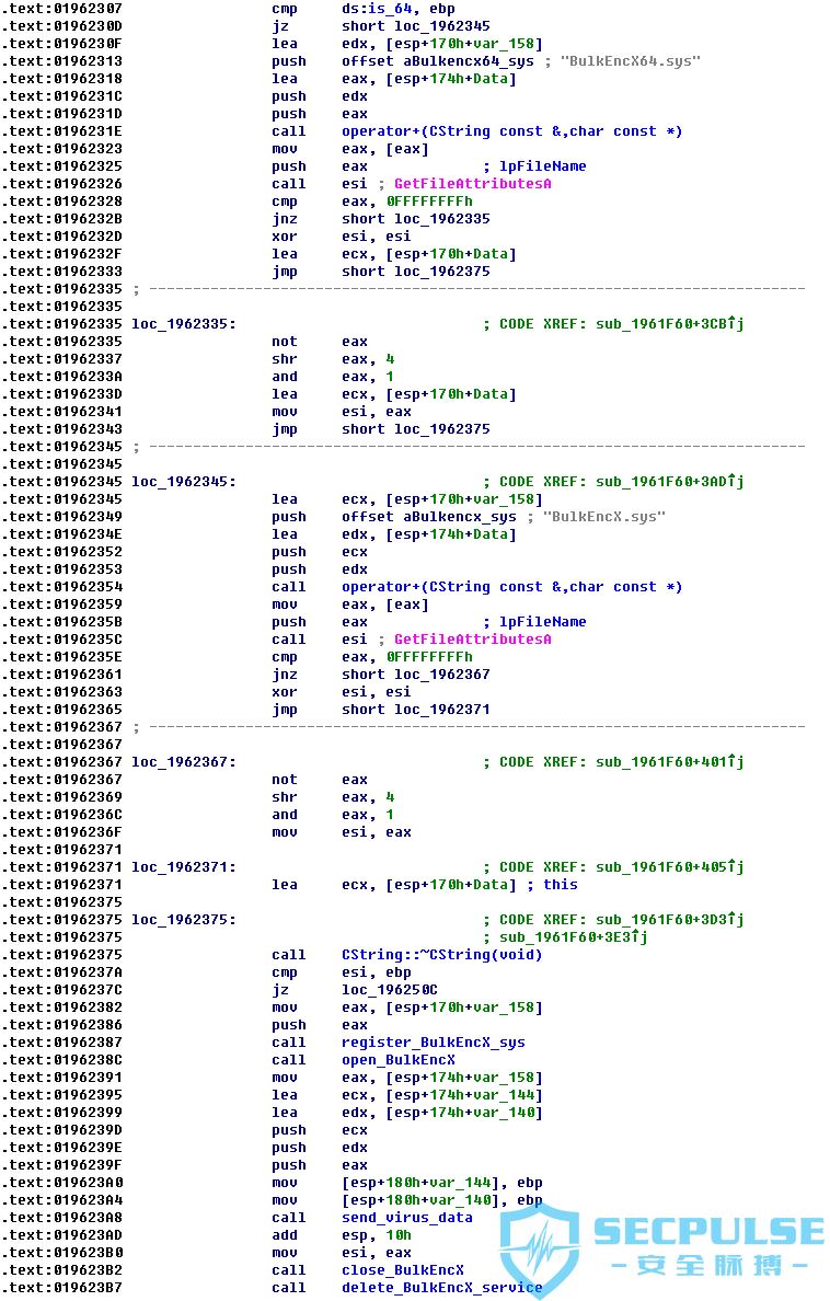 15 注册病毒驱动并想BulkEncX驱动发送加密数据