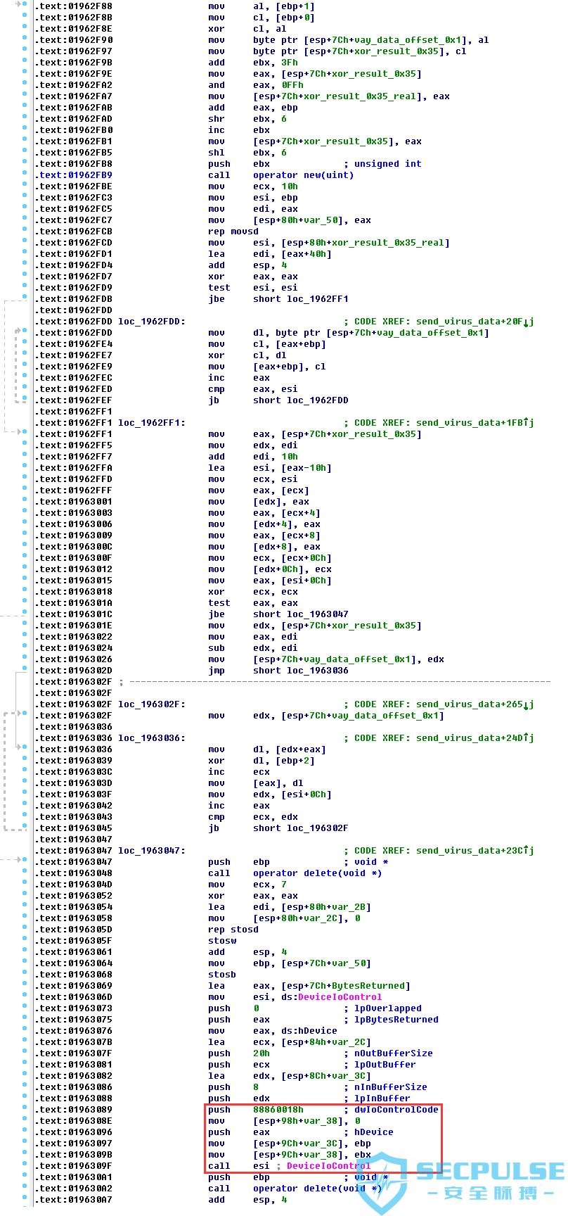 16 upd.dat代码将vayout.fxb数据解密后发送给BulkEncX驱动