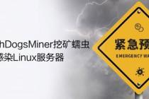 紧急预警!WatchDogsMiner挖矿蠕虫大量感染Linux服务器
